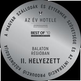 Az Év Hotele - Best of '10 | Balaton Régióban II. Helyezett