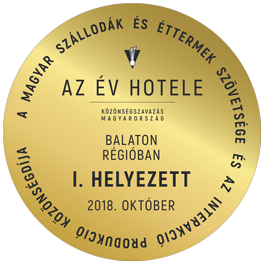 A Hónap Hotele Közönségszavazás | Balaton Régióban I. Helyezett | 2018. Oktber