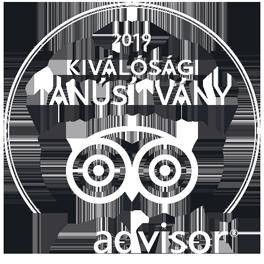 tripadvisor - Kiválósági Tanúsítvány 2019